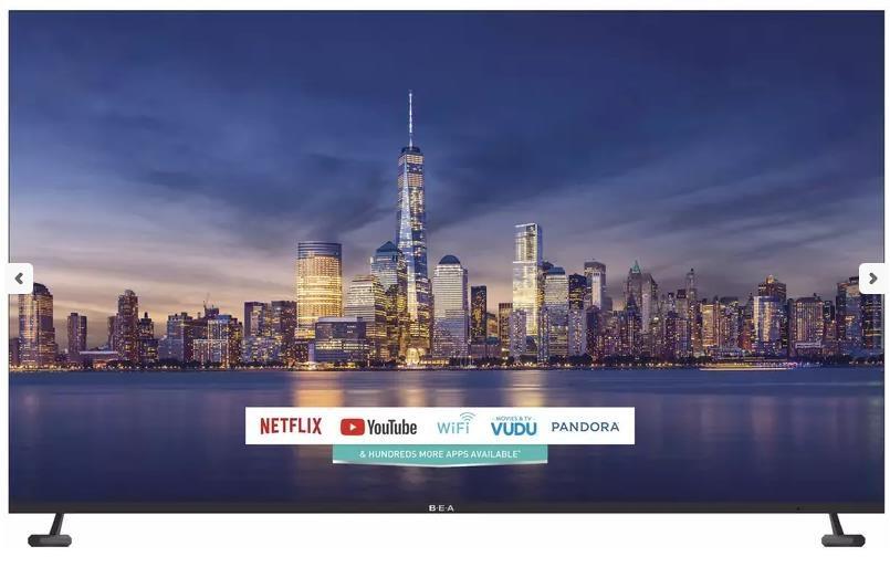 BEA Flat Panel TV 82in 4k UHD Smart TV by BEA at Furniture Fair - North Carolina