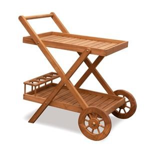 BeachCraft Bali Teak Beverage Cart