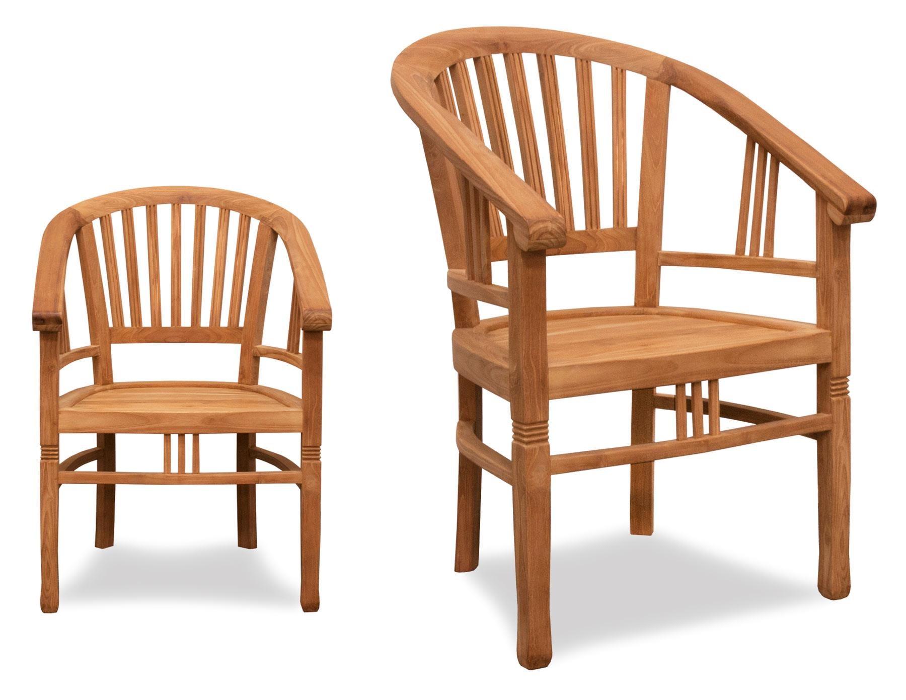 BeachCraft Bali Teak Dining/Game Chair - Item Number: GC9870