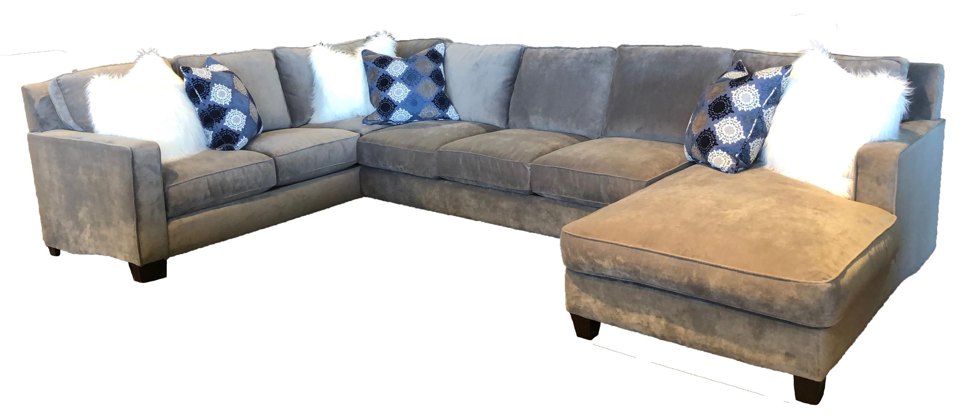 Reeds Trading Company 1000 1000 3 Piece Down Sectional - Item Number: 1000 3 Piece Down Sectional