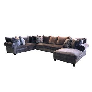 Reeds Trading Company 9000 9000 3 Piece Down Sectional LAF Tux