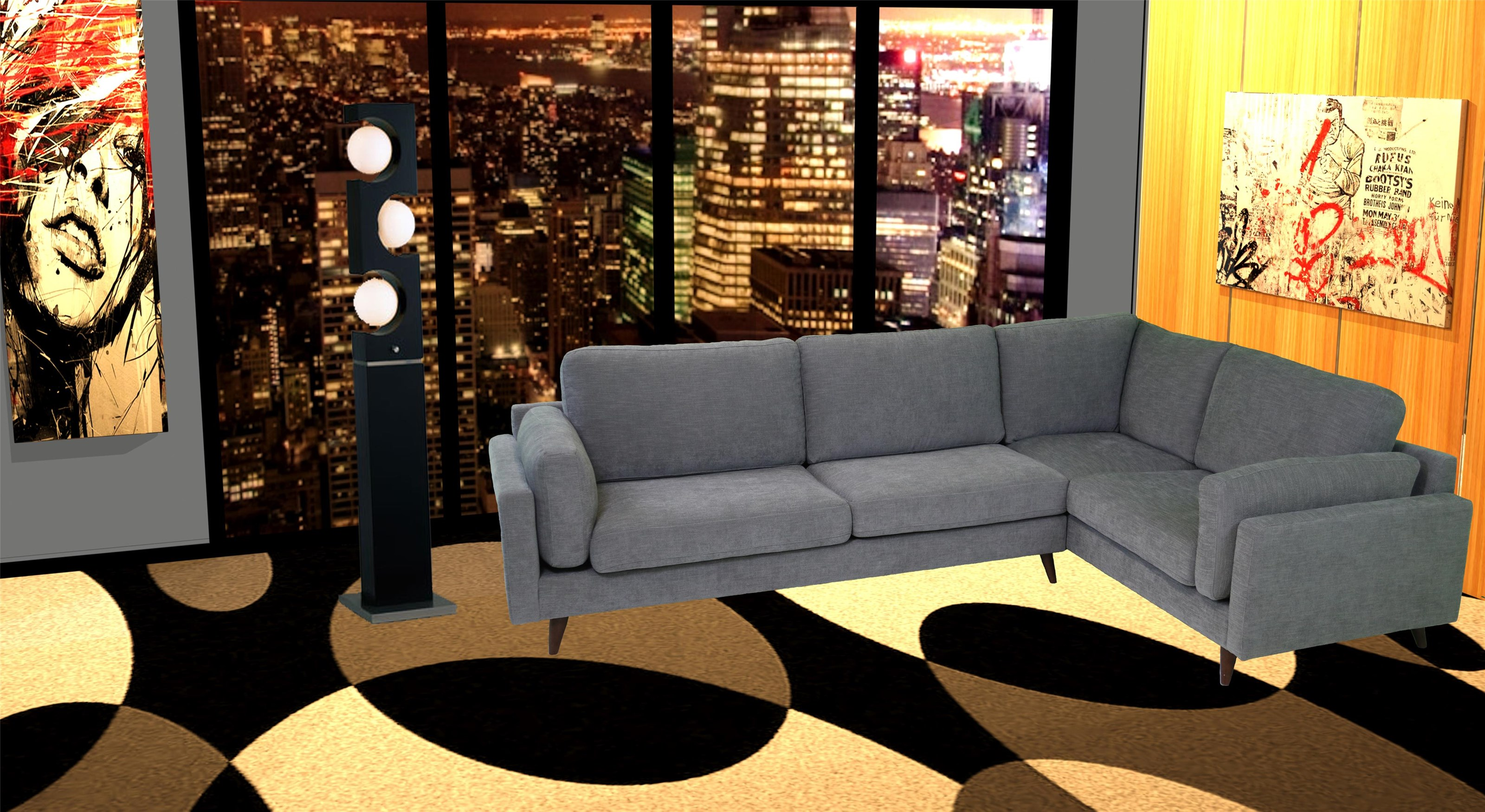 reeds trading company bodhi mid century modern sectional item number 3662m16