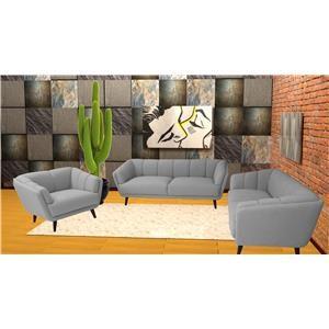 Reeds Trading Company Duke Mid Century Modern Sofa