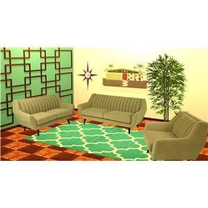 Reeds Trading Company Kai Mid Century Modern Sofa