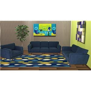 Reeds Trading Company Ryder Mid Century Modern Love Seat