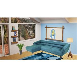 Reeds Trading Company Tallulah Mid Century Modern Sectional