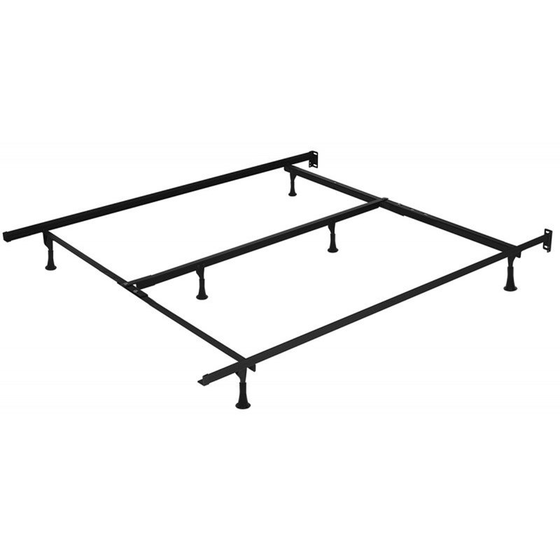 960B Bed Frame Full, Queen Bed Frame with 4 Casters, 2 legs by Beaudoin at Reid's Furniture