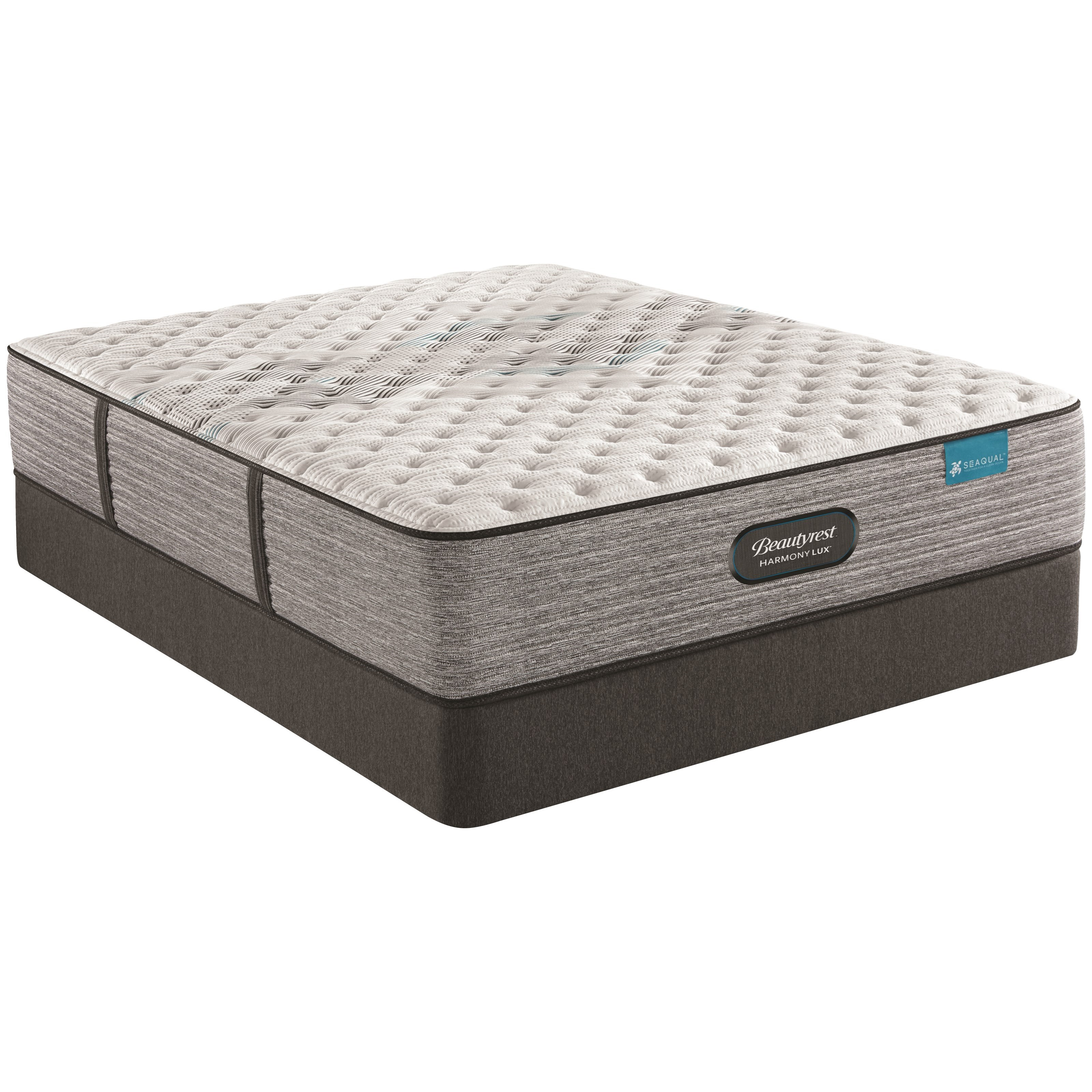 """Carbon Extra Firm Full 13 1/2"""" Extra Firm Mattress Set by Beautyrest at Darvin Furniture"""