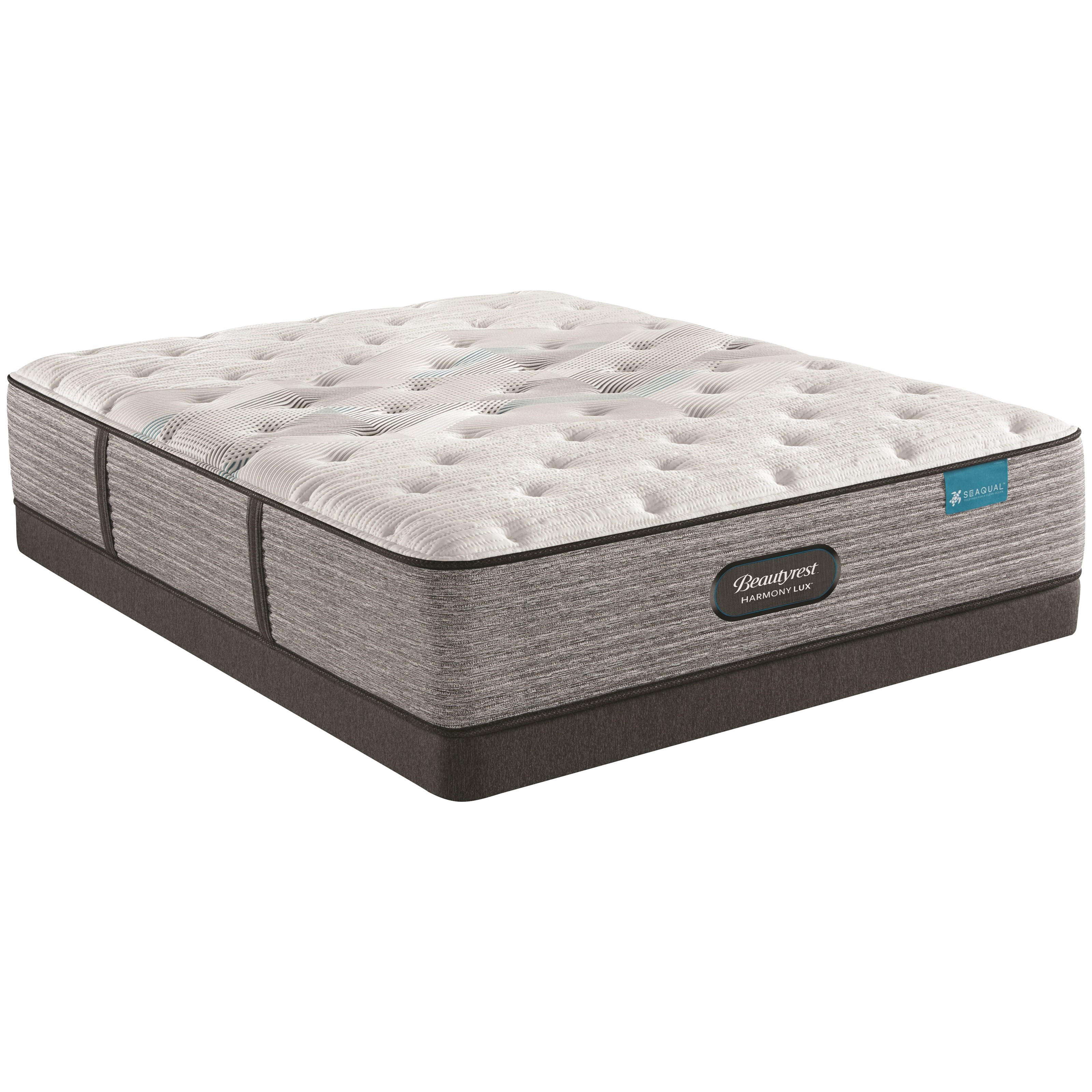 "Carbon Series Plush Queen 13 3/4"" Plush Low Profile Set by Beautyrest at Walker's Mattress"