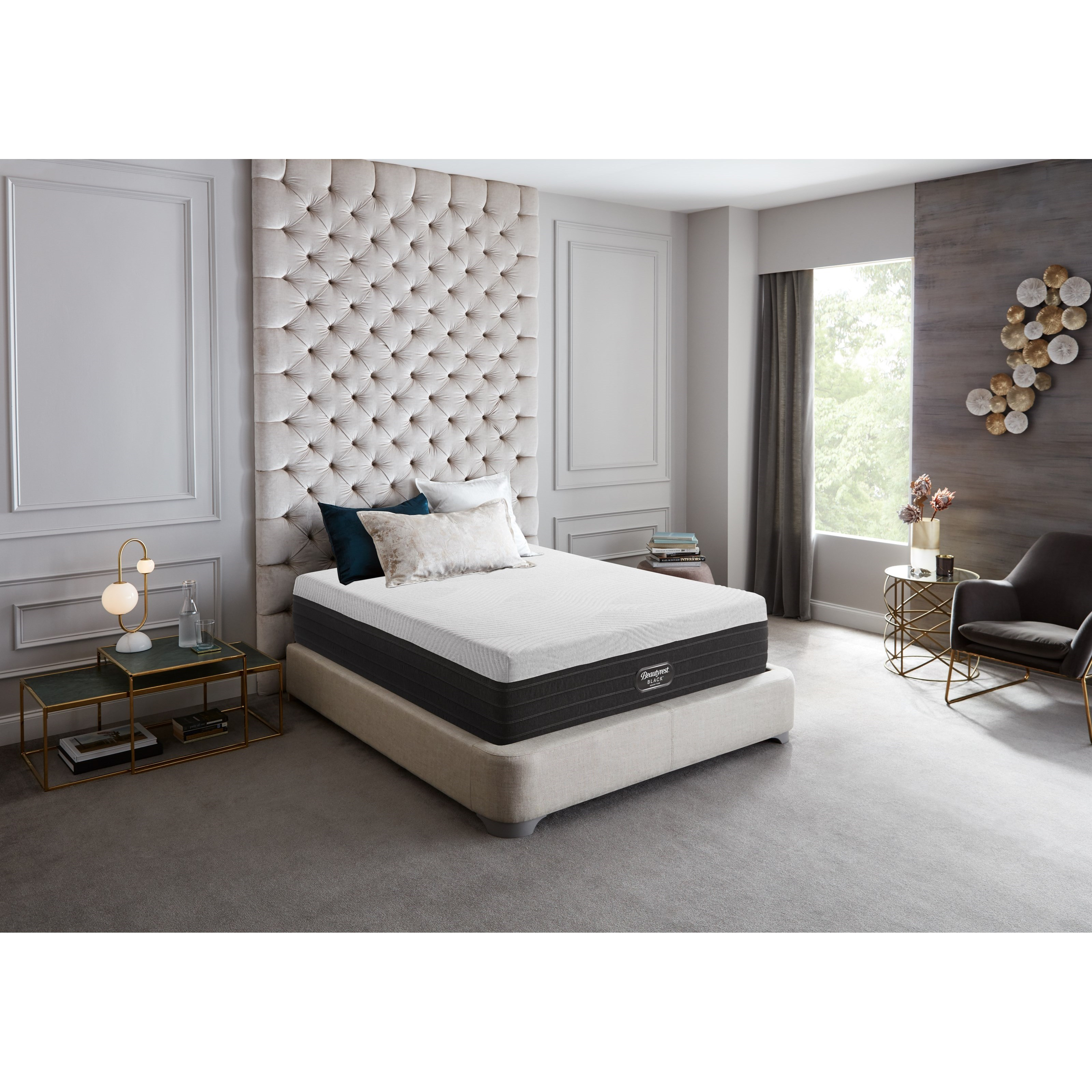 Picture of: Beautyrest Canada Chic Ultra Plush King 12 Gel Memory Foam Mattress And 9 Beautyrest Black Foundation Bennett S Furniture And Mattresses Mattress And Box Spring Sets