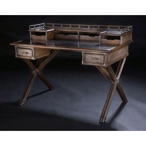 C.S. Wo & Sons Java Desk - Item Number: Java- Black Bamboo