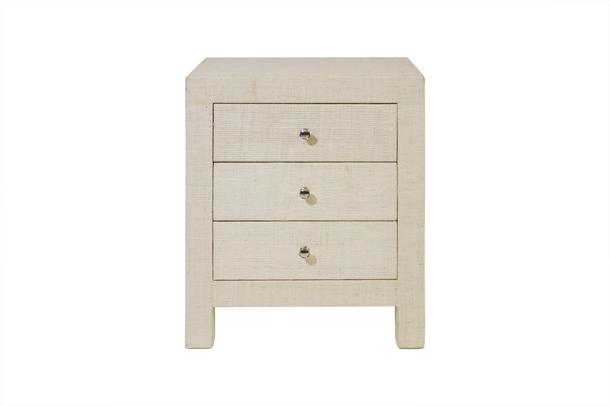 C.S. Wo & Sons Laguna 3 Drawer Nightstand - Item Number: Laguna
