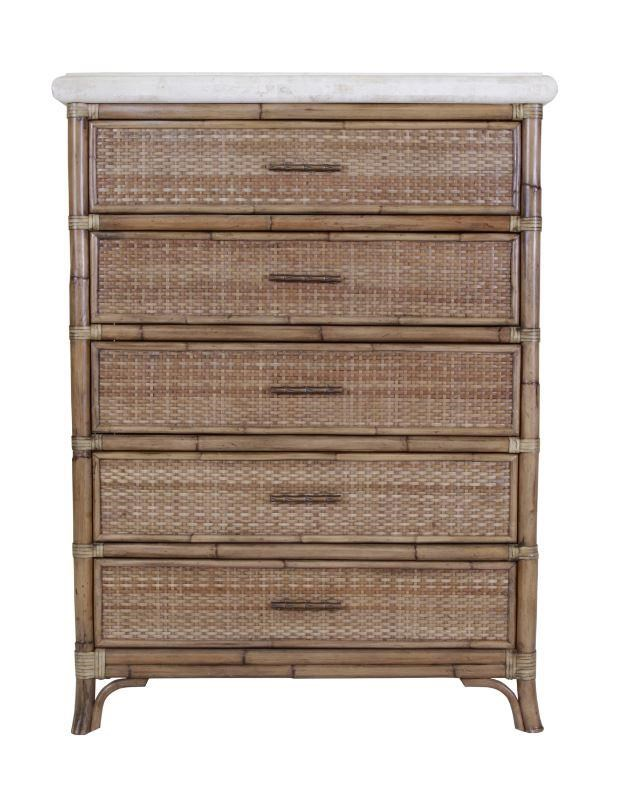Mandarin 5 Drawer Chest by C.S. Wo & Sons at C. S. Wo & Sons Hawaii