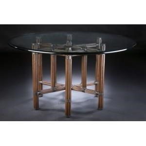 "C.S. Wo & Sons Sumatra III Sable 54"" Dining Table - Item Number: Sumatra III Sable"