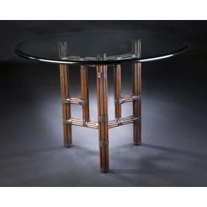 "C.S. Wo & Sons Sumatra III Sable 48"" Dining Table - Item Number: Sumatra III Sable"