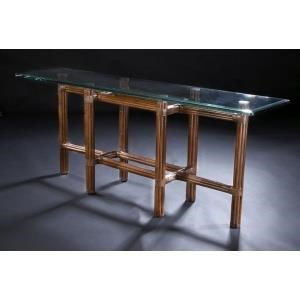 "C.S. Wo & Sons Sumatra III Sable 72"" Console Table - Item Number: Sumatra III Sable"