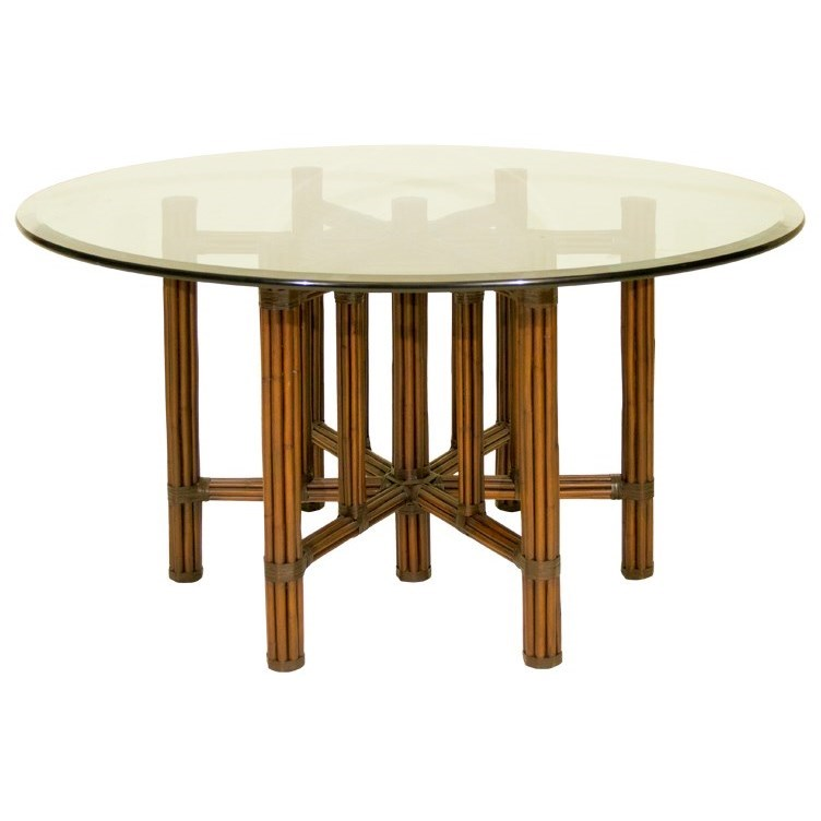"C.S. Wo & Sons Sumatra III Spice 54"" Dining Table - Item Number: Sumatra III Spice"