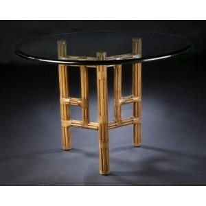 """C.S. Wo & Sons Sumatra III Spice 48"""" Dining Table"""