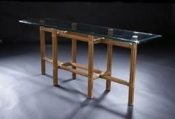 """C.S. Wo & Sons Sumatra III Spice 72"""" Console Table"""