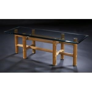 "C.S. Wo & Sons Sumatra III Spice 54"" Cocktail Table"