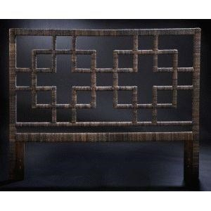 Capiz Square Queen Headboard by C.S. Wo & Sons at C. S. Wo & Sons Hawaii
