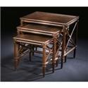 C.S. Wo & Sons Melaka Nesting Tables - Item Number: Melaka- Tobacco