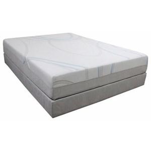 """BedTech Gel-Max Memory Foam King 12"""" Memory Foam Mattress Adj. Set"""