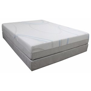 "BedTech Gel-Max Memory Foam King 14"" Memory Foam Mattress Adj. Set"