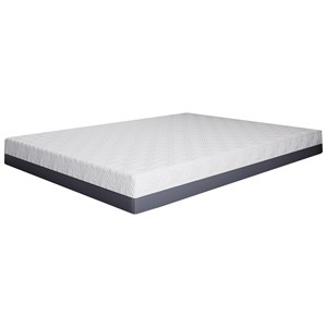 "BedTech Pur Gel Colorado 10 Queen 10"" Gel Memory Foam Mattress"