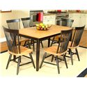 Beechbrook 2040 Rectangular Leg Table with Laminate Top - Shown as part of table set