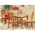 Beechbrook 2130 Slat Back Solid Beech Side Chair - Shown as part of table set