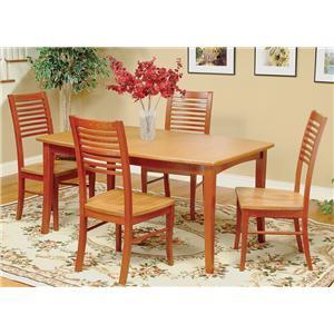 Beechbrook 2130 5-Piece Rectangular Leg Table & Chair Set