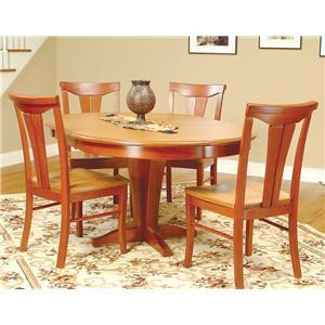 Beechbrook 2130 5-Piece Round Pedestal Table & Chair Set