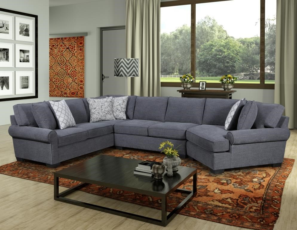 Behold Home 1010 Charcoal 3 Piece Sectional - Item Number: GRP-1010-SECTIONAL