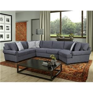 Behold Home 1010 Charcoal 3 Piece Sectional