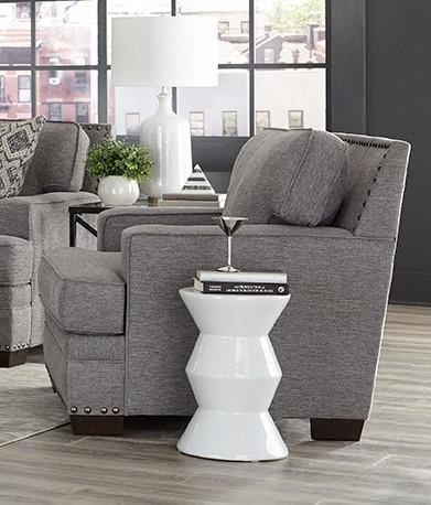 Transitional Grey Chair