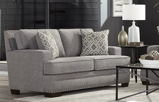 1020 Transitional Grey Loveseat by Behold Home at Furniture Fair - North Carolina