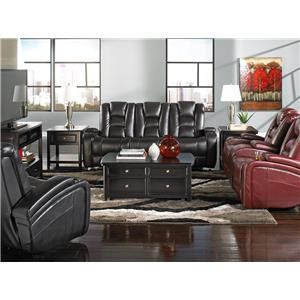 Behold Home Transformer Black Reclining Loveseat
