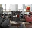 Behold Home Transformer Black Reclining Loveseat - Item Number: 10227-9
