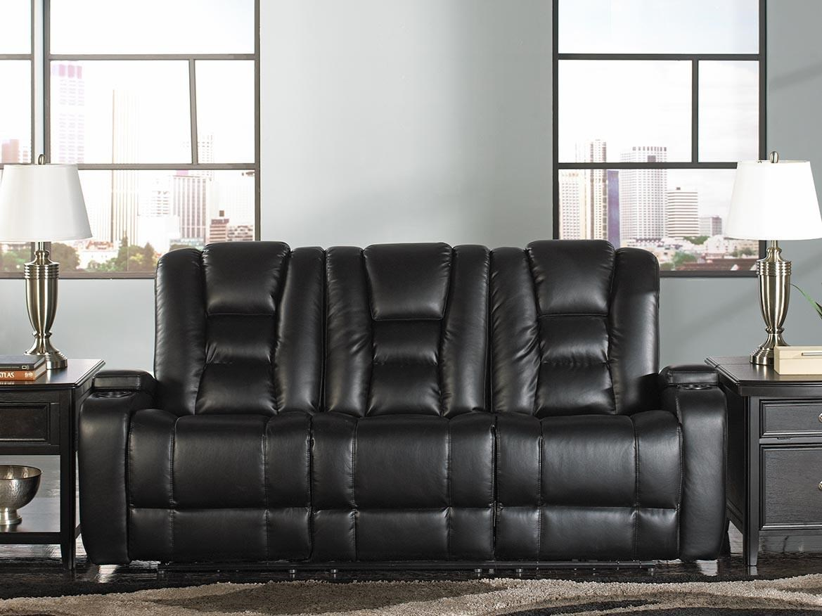 Behold Home Transformer Black Leather Reclining Sofa - Item Number: Black Leather