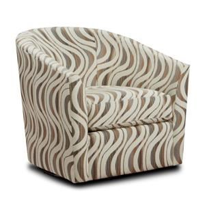 Cream Barrel Accent Chair