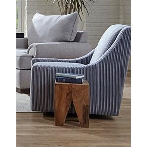 Azure Blue Swivel Chair