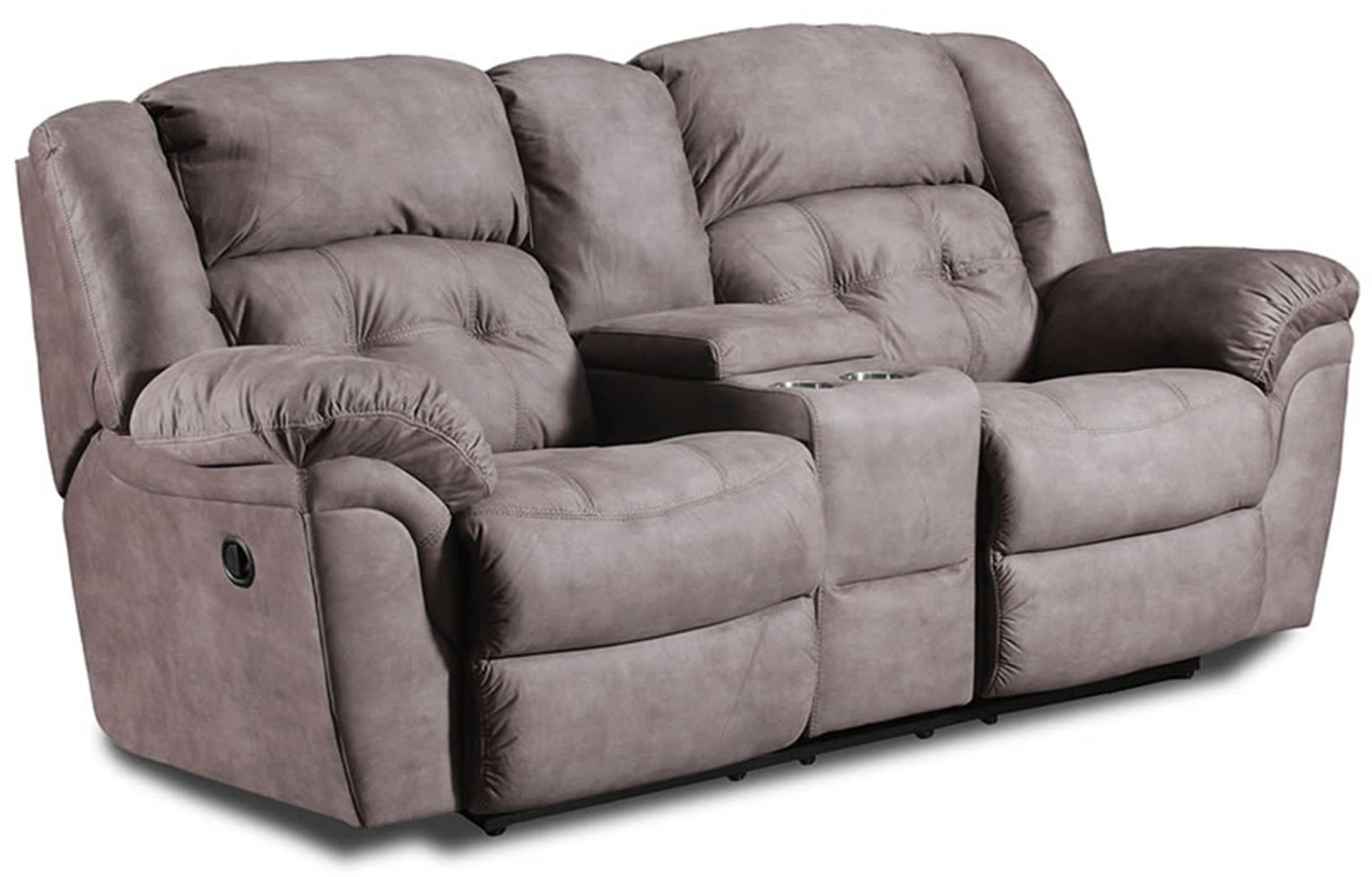 Behold Home 110 Reclining Loveseat with Console - Item Number: 110-227WASH-BEIGE