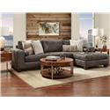 Behold Home Huntington 1700 07 16 Grey Chaise Sectional Great American Home Store Sectional