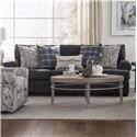 Behold Home Morgan Sofa with Accent Pillows - Item Number: 2300-03BLU