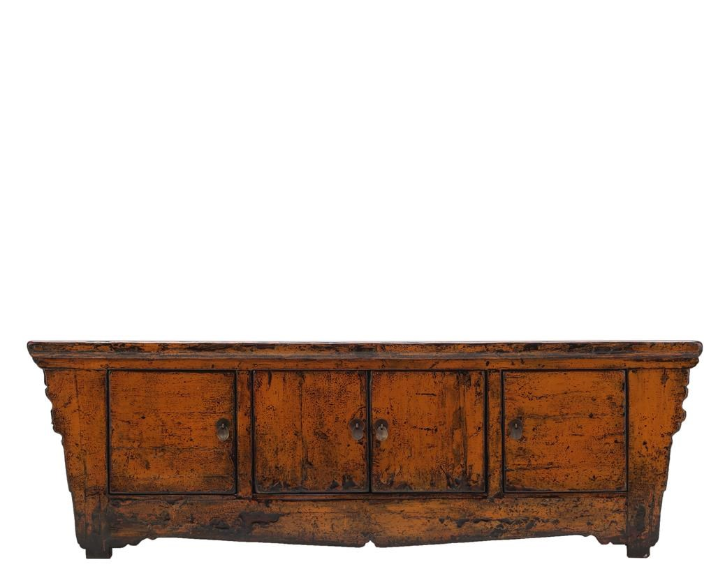 Antiques 4 Door Cabinet by C.S. Wo & Sons at C. S. Wo & Sons California