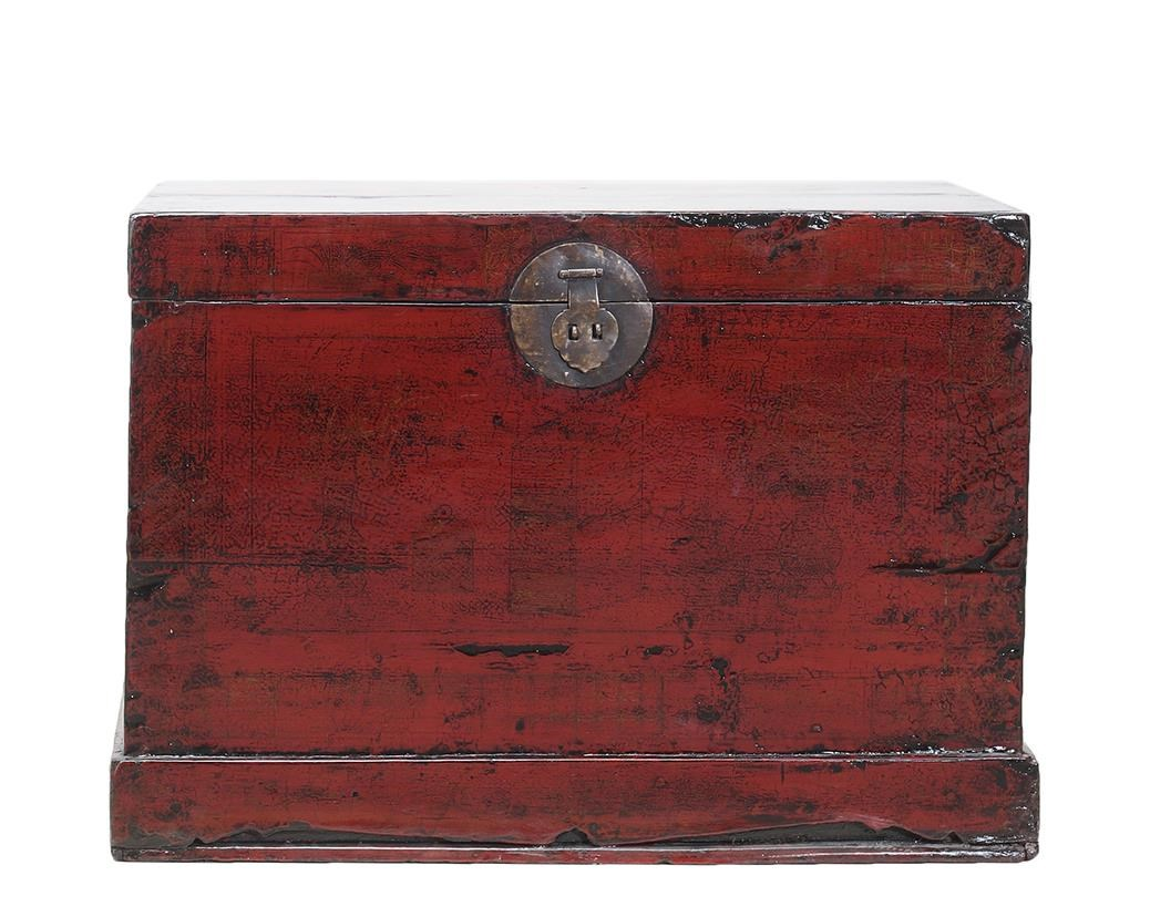 C.S. Wo & Sons Antiques Trunk - Item Number: TA-3390