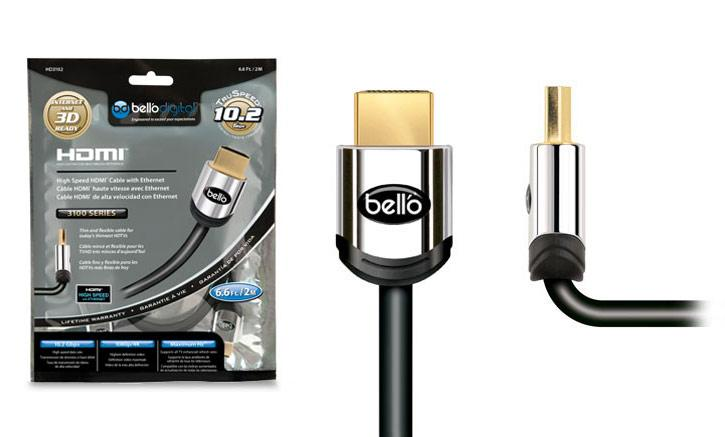 Bell'O AV Cable 6FT High Speed Gold Tipped HDMI Cable - Item Number: HD3102