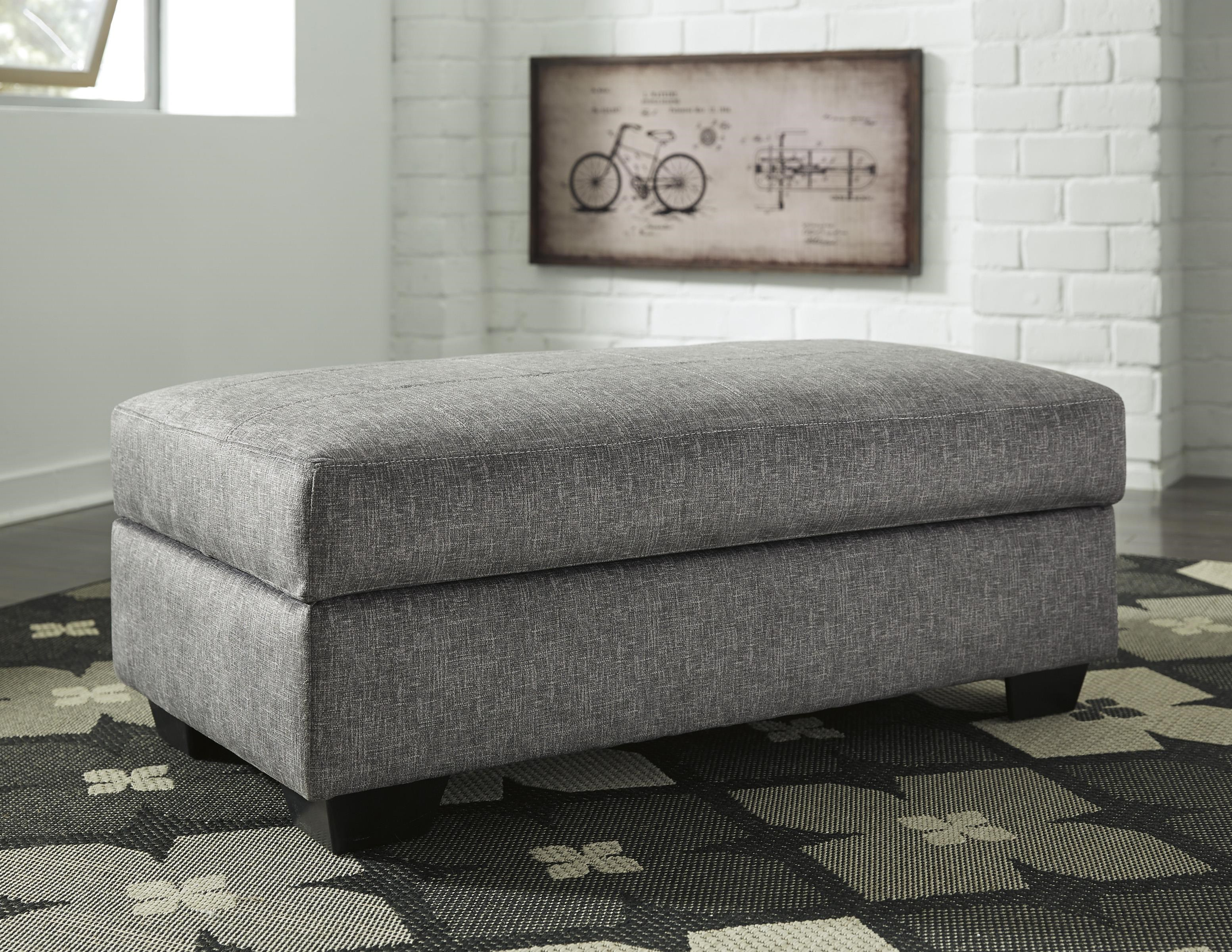 Belcastel Ottoman with Storage by Benchcraft at Westrich Furniture & Appliances