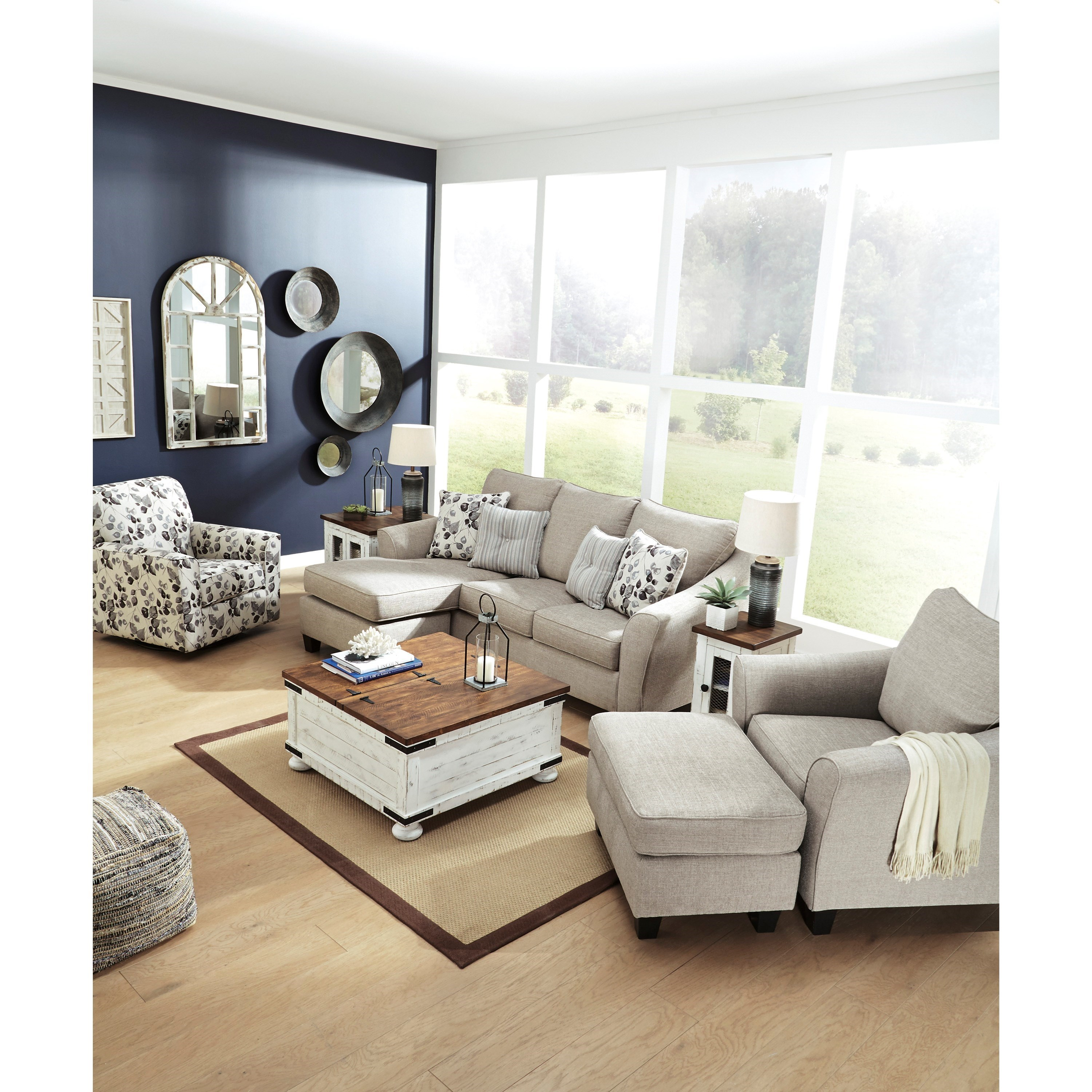 Benchcraft By Ashley Abney Sofa Chaise With Flared Track